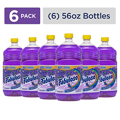 FABULOSO All Purpose Cleaner, Lavender, Bathroom Cleaner, Toilet Cleaner, Floor Cleaner, Washing Machine and Dishwasher Surface Cleaner, Mop Cleanser, Kitchen Pots and Pans Degreaser, 56 Fluid Ounce (