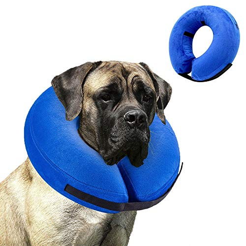 VST Comfy Cone for Dogs Cats,Protective Inflatable Soft Dog Cone Collar,Pet Recovery E-Collar Cones Alternative After Surgery Prevent Pets from Touching Biting Scratching at Injuries Wounds (X-Large)