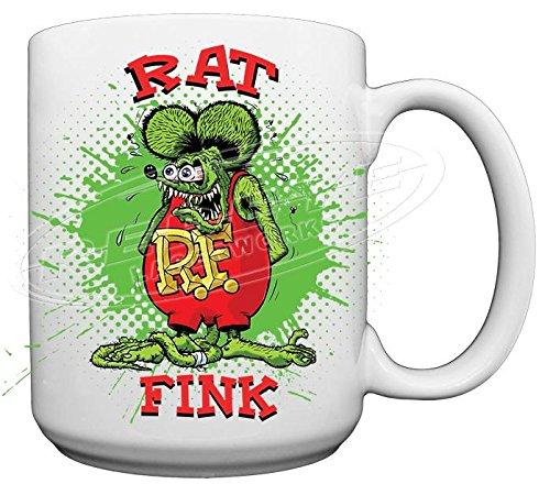 Rat Fink Large 15oz Ceramic Coffee Mug from Redeye Laserworks