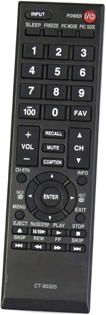 CT-90325 Replace Remote Applicable for Toshiba TV 24L4200U ...