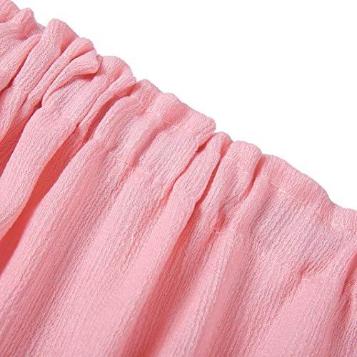 Pure Robe Manches A Chic Lâche Cloche Manchon Couleur Casual Dentelle Hors Court De Femmes Plage Longues Soirée Épaule Mode Rose Automne Élégant Adeshop Mini line OxY5wqff
