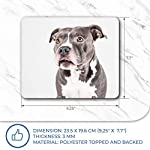 Comfortable Mouse Mat - American Pit Bull Staffy Terrier Dog 23.5 x 19.6 cm (9.3 x 7.7 inches) for Computer & Laptop, Office, Gift, Non-Slip Base - RM12382 14