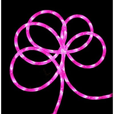 18' Pink LED Indoor/Outdoor Christmas Rope Lights