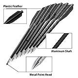 "ZTMDF 6.3"" Black Aluminium Crossbow Bolts"