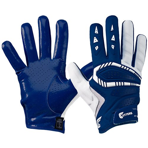 Cutters Gamer All Purpose Gloves, Navy, Adult Medium
