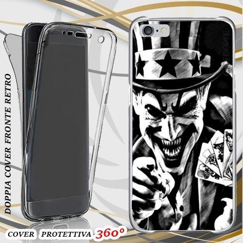 CUSTODIA COVER CASE JOKER POKER PER IPHONE 6 FRONT BACK