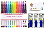 frixion pens 12 pack - Pilot Frixion Erasable Coloring Pens 12 Pack with Sticky notes and 3 blue erasers – Multi Colored Dry Erase Markers, Comfy Grip, Retractable Clip On Cap – For Home, School, Students, Kids, Drawing