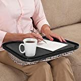 Oksale Lap Desk For Laptop Chair Student Studying Homework Writing Portable Dinner Tray, 17'' X 13'' X 2.5'' (Black)