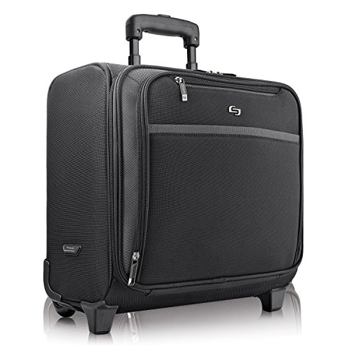 Solo Dakota 16 Inch Rolling Laptop Case with Overnighter Section, Black by SOLO (Image #1)