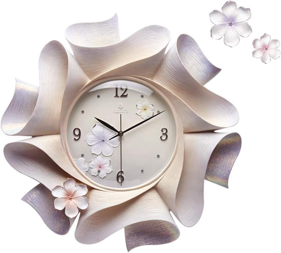 ウォールクロック現代の3Dステレオホーム掛時計バッテリーはアパートリビングルームの装飾のためのサイレントムーブメントクォーツ時計を運営しました クリアディスプレイ (Color : White, Size : 57cm*57cm)
