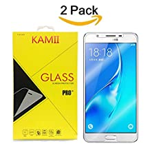 (2 Pack) J5 Prime Screen Protector, KAMII [Tempered Glass][Anti-Scratch] [Bubble Free] Ultra Thin HD Clear 9H Hardness Shockproof Clear Screen Protector for Samsung Galaxy On5 2016/J5 Prime