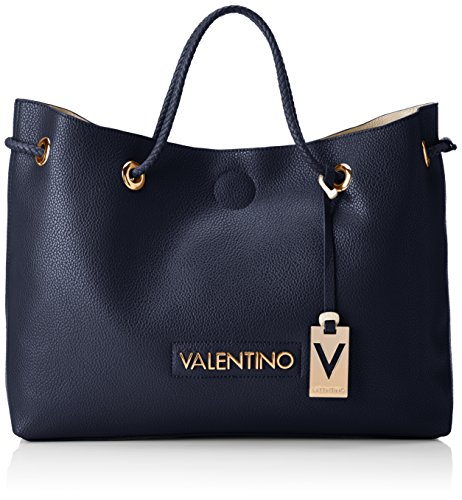 Mario Valentino Damen Corsair Tote, 12.5x30.5x40.0 cm Mehrfarbig (Blu/Sabbia)