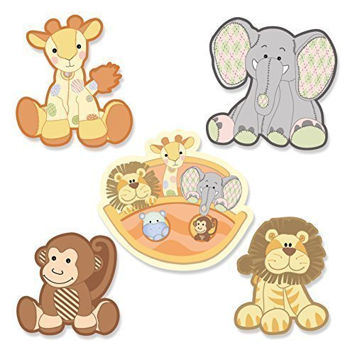 Big Dot of Happiness Noah's Ark - DIY Shaped Baby Shower or Birthday Party Cut-Outs - 24 Count - Noahs Ark Centerpieces