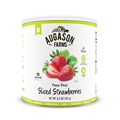 The Augason Farms Freeze Dried Sliced Strawberries are naturally sweet and can be reconstituted and used in any recipe that calls for fresh strawberries—they're that good. Perfect straight from the can as a delicious way to get your daily Vit...