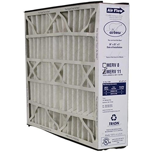 Heating, Cooling & Air Trion Air Brook 259112-102 Pleated Furnace Air Filter 20x25x5 MERV11 - NEW