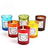 Laluztop Scented Candles(lavender,Lilac,Orchid, Rose, Lotus,Gardenia) 100% Soy Candles Scented and Organic Candles, Pretty Small Massage Relaxing Travel Aromatherapy Candles 6 Pack