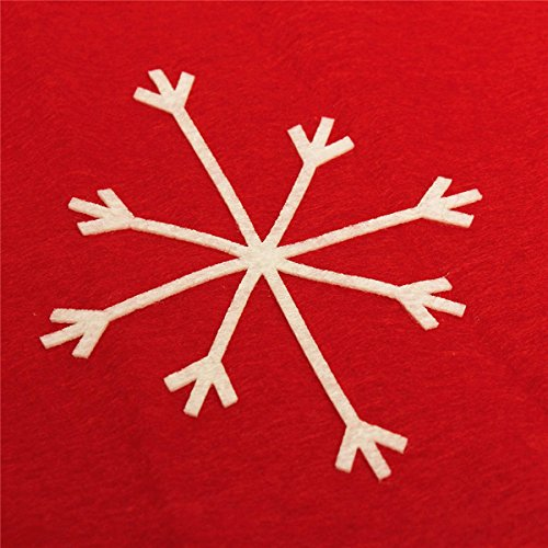 Amazon KISENG Christmas Snowflake Red Hat Chair Cover Kitchen Dinner Seat Back Home Party Decor