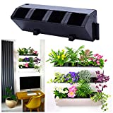 Self Watering Wall Planter by My Easygro | Indoor or Outdoor Living Wall Vertical Hanging Planter | Urban Garden Herbs Flowers Vegetables | Stand Wall or Balcony Mounted | (Black)