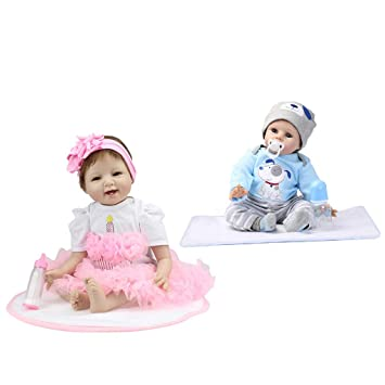 Amazon.es: NON Sharplace Muñecas Gemelo Reborn 55 cm Twin Doll ...