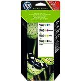 Hewlett Packard - HP 940XL - À rendement élevé - couleur (cyan, magenta, jaune, noir) - original - cartouche d'encre - pour Officejet Pro 8000, 8500, 8500 A909a, 8500A, 8500A A910a
