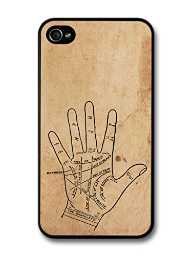 Palmistry Gypsy Hipster Retro Stylish Design on Rustic Style coque pour iPhone 4 4S