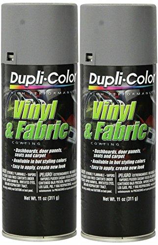 Dupli-Color HVP109 Medium Gray High Performance Vinyl and Fabric Spray - 11 oz. ... (2 PACK)