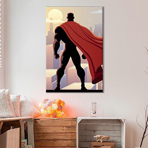 Male Superhero Comic Pop Art Illustration