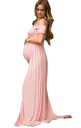 Dressart Womenu0027s Pink Maternity Photography Props Maxi Pregnant Baby Shower  Dresses