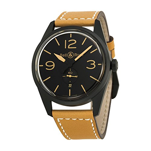 Bell-and-Ross-Vintage-Black-Dial-Tan-Leather-Mens-Watch-BRV123-HERITAGE