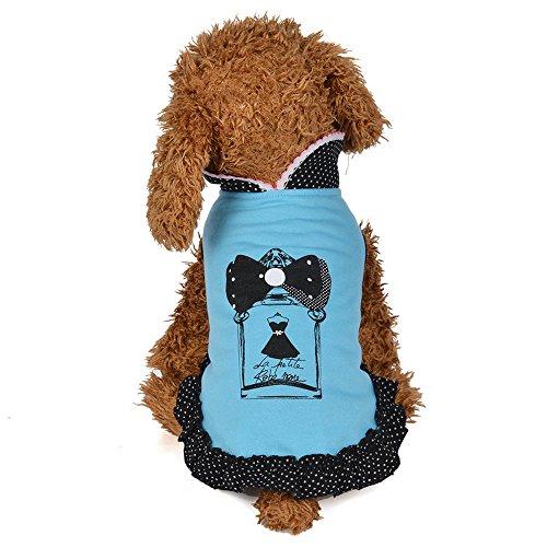 Geetobby Pet Dress Peter Pan Collar Skrit Puppy