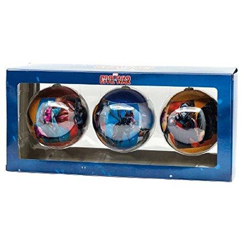 Hallmark Captain America Civil War 3 Pack Ornaments