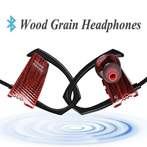 mailiya-wood-grain-wireless-sport-bluetooth-headphones-sweatproof-stable-fit-in-ear-workout-earbuds-