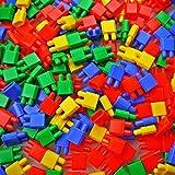 Educational Puzzle Kids Rocket Head Bullet Shape Building DIY Game Block Toy (100 Blocks in Package)