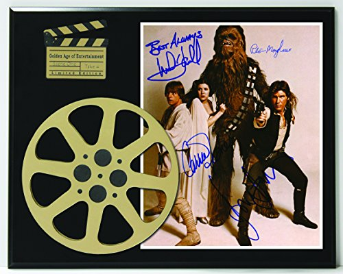 Star Wars Cast Limited Edition Reproduction Autographed Movie Reel Display