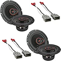 (2Pairs) CERWIN-VEGA MOBILE H7653 HED(R) Series 3-Way Coaxial Speakers (6.5, 340 Watts max) Metra 72-7800 Speaker Connector Harnesses for Select Honda Vehicles