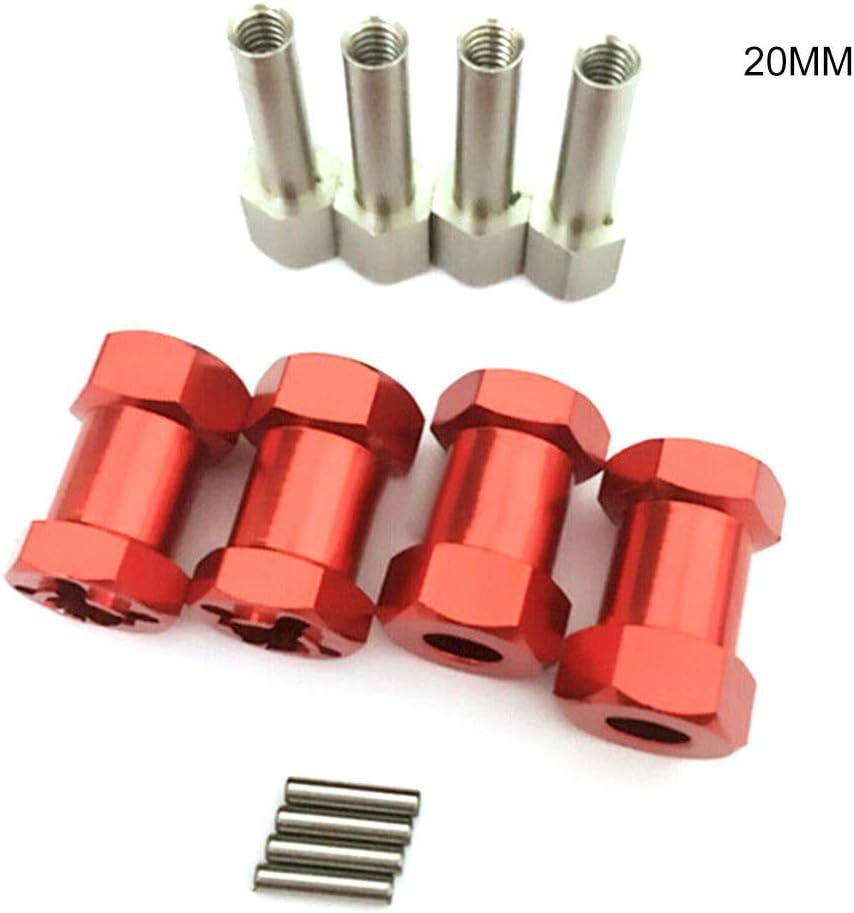 Domeilleur Extension Hex Hub Adapter 12mm for Crawler D90 AX10 CC01 SCX10 RC Car Wheel Hex Hub Extension Adapter