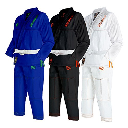 Sanabul Kids Highlights Brazilian Jiu Jitsu BJJ Gi (BLUE, K0)