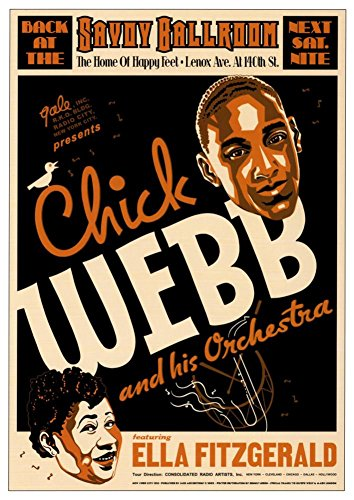 Chick Webb and Ella Fitzgerald at the Savoy Ballroom, New York City, 1935 Art Poster Print by Dennis Loren, Vintage by Dennis Loren