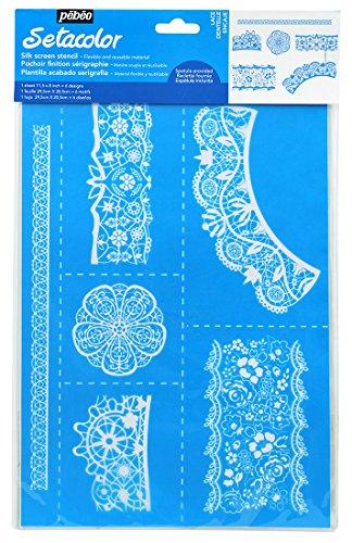 Lace Stencil - Pebeo Stencil, A4, Lace