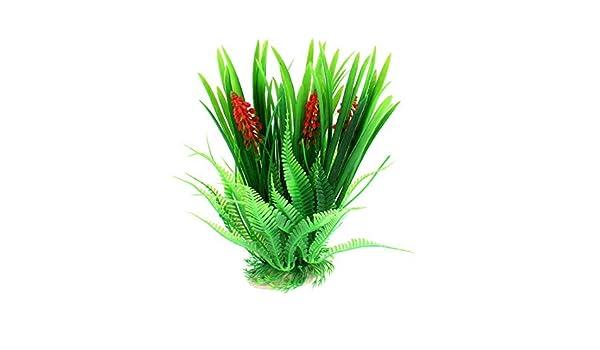 Amazon.com : eDealMax peces de acuario tanque de agua Artificial planta de la hierba Decoración, 23, 5 cm, Verde : Pet Supplies