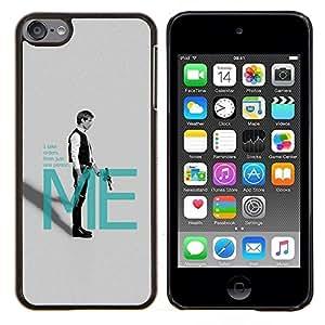 YiPhone /// Prima de resorte delgada de la cubierta del caso de Shell Armor - Han Solo Mí - Apple iPod Touch 6 6th Touch6
