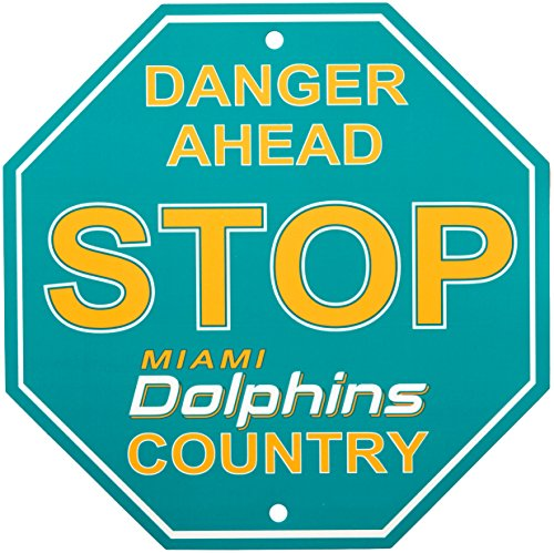 NFL Miami Dolphins Stop Sign, 12