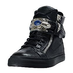 Giuseppe Zanotti Women S Leather Fashion Sneakers Shoes Us 8 5 It 38 5 Black