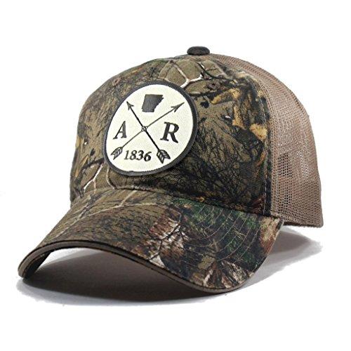 Homeland Tees Men's Arkansas Arrow Patch Camo Trucker Hat - Realtree (Eureka Springs Day Christmas)