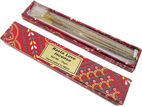 Cultural Exchange New Age Rasta Love Incense Sticks [2 Boxes x 15 Sticks Per Box - Brown - 15 g]