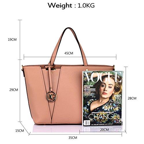 A4 Designer Style For Handbags Handbag Women 350 Clearance Bag Shopper Ladies Celeb Fashion LeahWard Sale Bags Tote Shoulder Ladies Nude wOOq1af