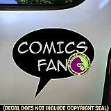COMICS FAN Zine Club Comic Book Vinyl Decal Bumper Sticker Car Laptop Wall Sign BLACK