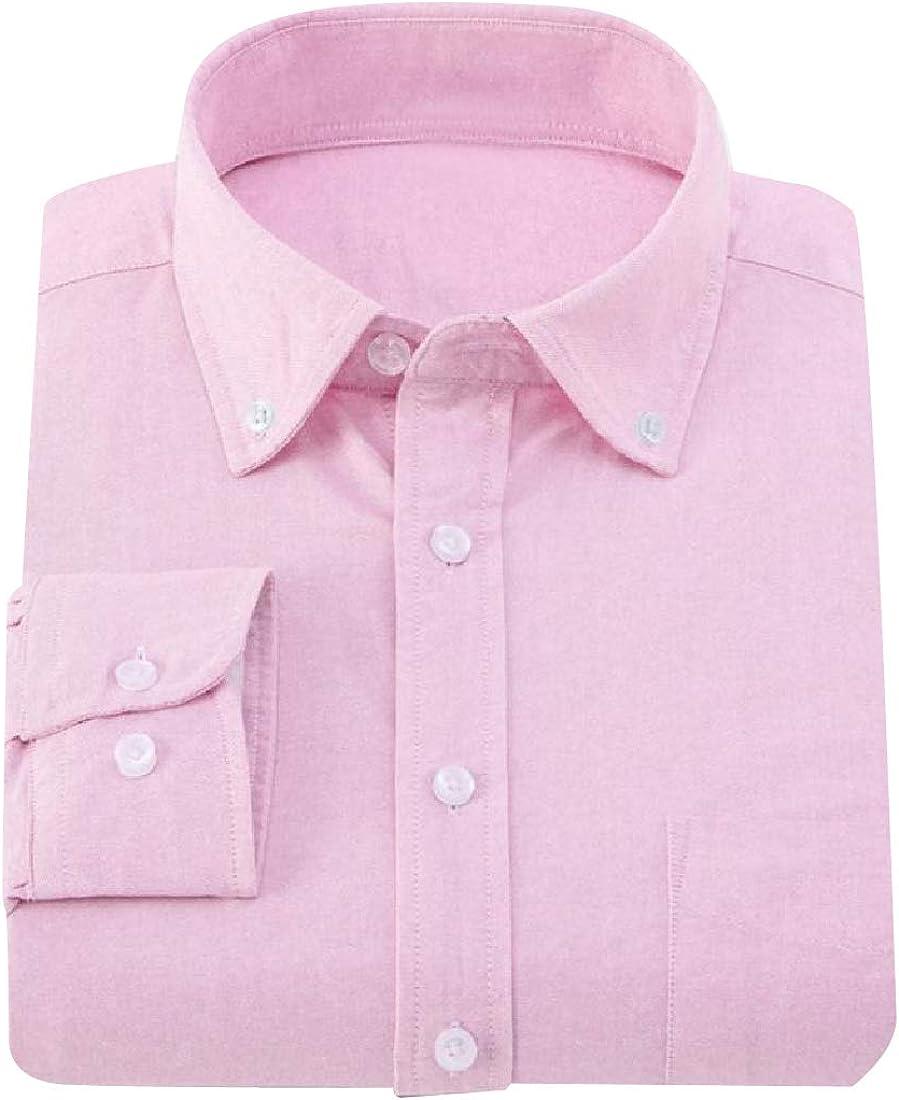 Abetteric Mens Original Fit Oxford Button-Collar Button Down Shirt