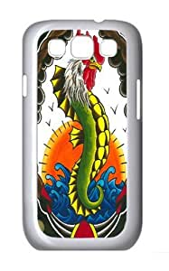 Chicken of the Sea PC Case Cover for Samsung Galaxy S3 and Samsung Galaxy I9300 White
