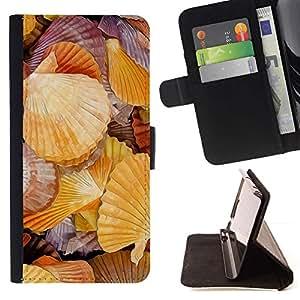 For HTC One M9 Case , rakushki más Rakovina bereg- la tarjeta de Crédito Slots PU Funda de cuero Monedero caso cubierta de piel